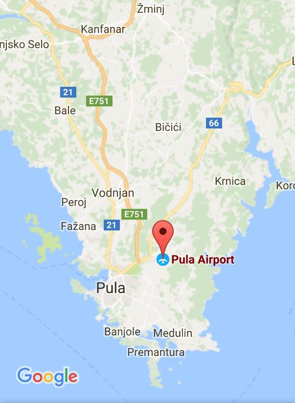 Pula Kort Smagen Af Kroatien
