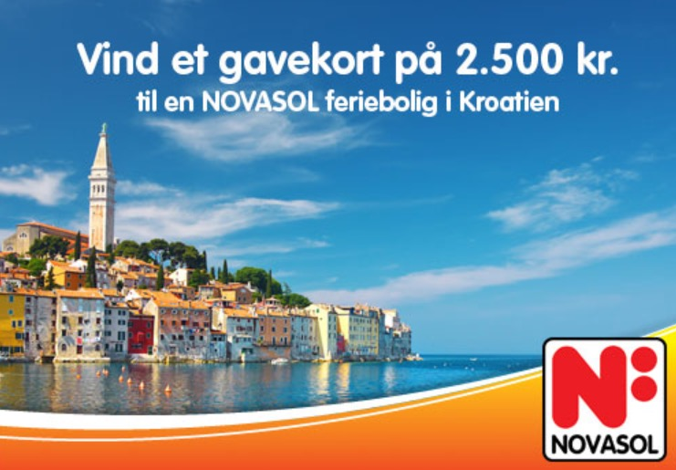 Vind et gavekort på 2.500 kr til en NOVASOL feriebolig i Kroatien