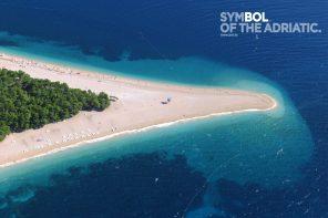 Stranden Zlatni Rat på øen Brac