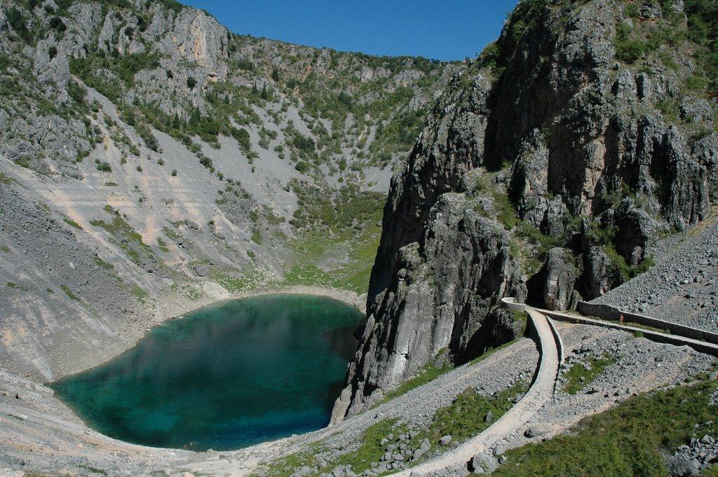 Imotski Den blå sø Modro jezero