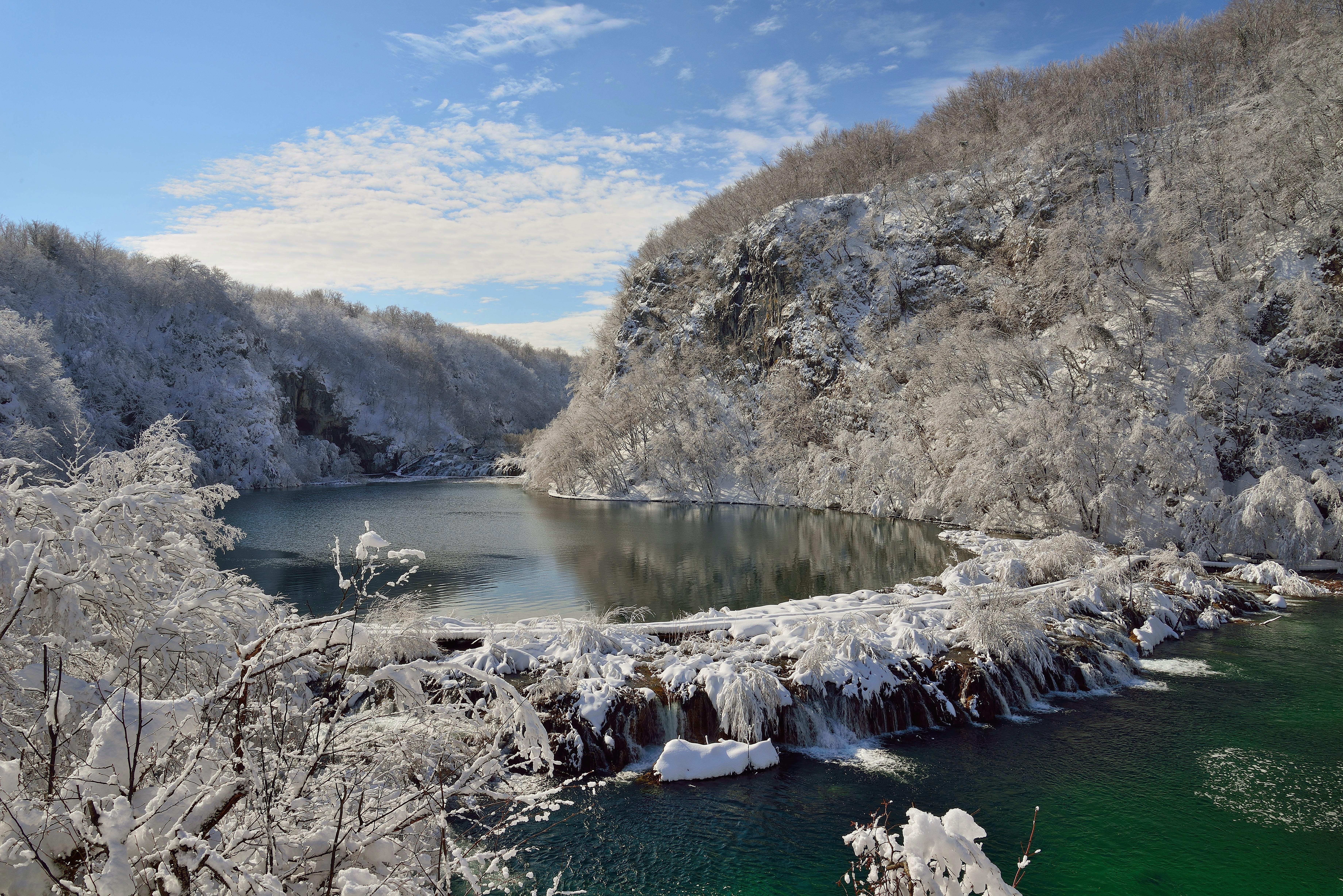Plitvice vinter